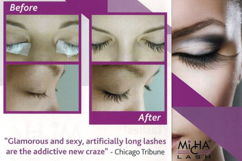 before and after long lashes